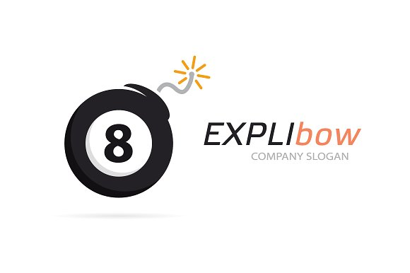 Set Of Billiard Ball And Bomb Logo