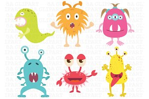 Cute Little Monsters Clipart