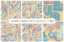 Colorful seamless striped patterns.
