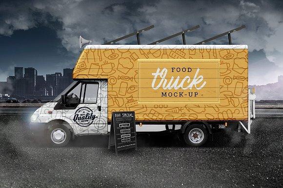 Street Food Truck/Van Mockup (HQ) - Product Mockups