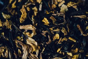 Tea with dried yellow petals