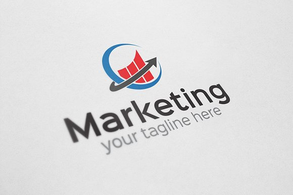 Marketing logo logo templates creative market altavistaventures Choice Image