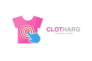 T-shirt and click logo combination