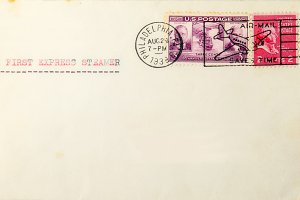 Vintage envelope from usa to europe
