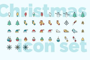 Christmas & New Year icon set