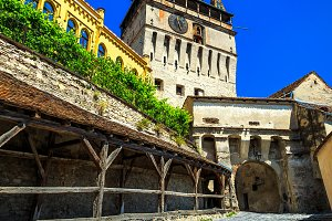 Famous clock tower,Sighisoara
