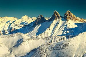 Wonderful mountain peaks,France