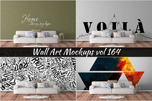 Wall Mockup - Sticker Mockup Vol 164