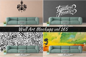 Wall Mockup - Sticker Mockup Vol 165