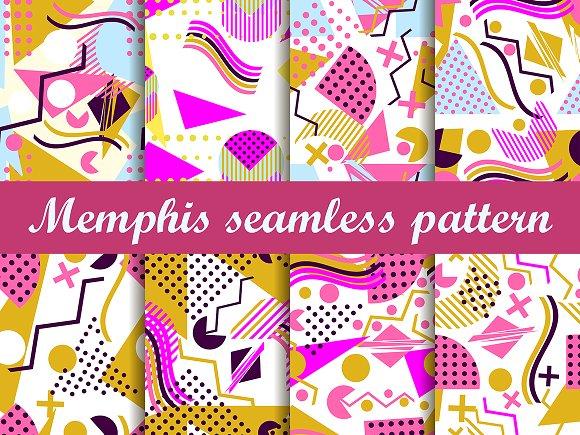 Memphis Seamless Pattern 80's