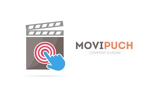 Cinema and click logo combination