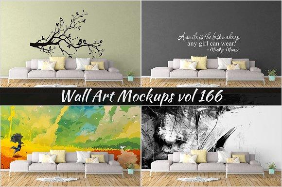 Wall Mockup Sticker Mockup Vol 166