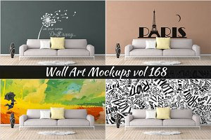 Wall Mockup - Sticker Mockup Vol 168