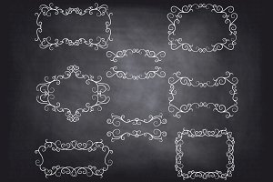 Chalkboard Flourish Swirl Frame