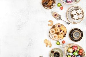Christmas food and decoration