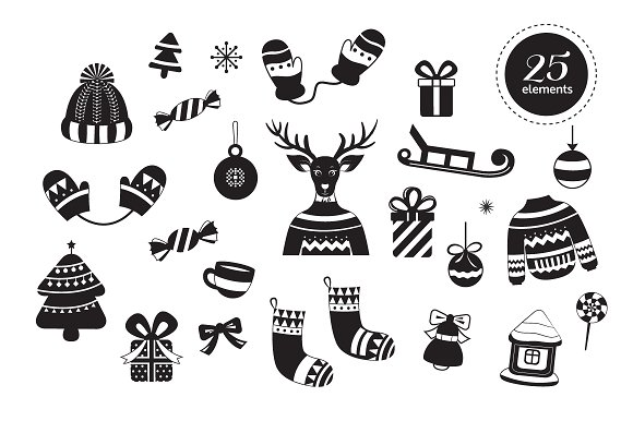 Christmas card, illustration,pattern in Illustrations - product preview 3