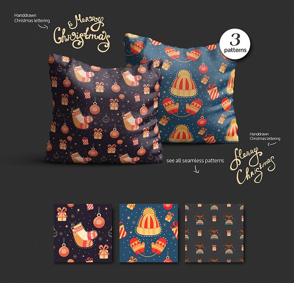 Christmas card, illustration,pattern in Illustrations - product preview 4