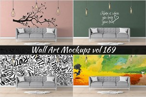 Wall Mockup - Sticker Mockup Vol 169