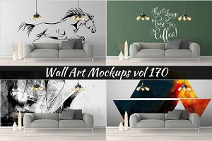 Wall Mockup - Sticker Mockup Vol 170