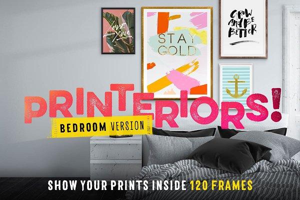 Printeriors Bedroom! Frame Mockups