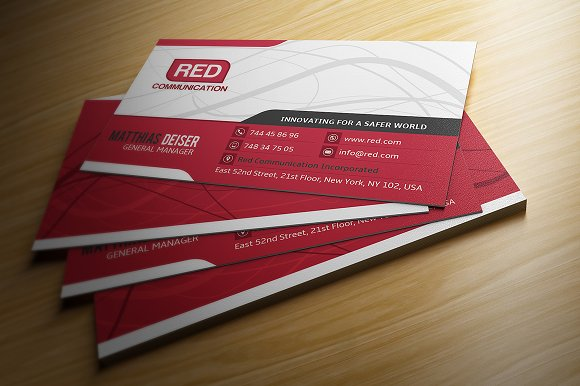 Red Business Card Cards