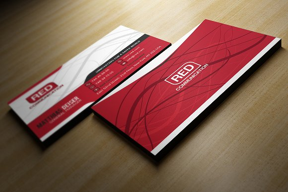 Red business card business card templates creative market accmission Choice Image