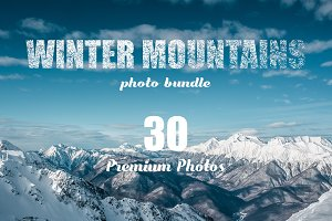 Winter Mountain Landscape-30 Photos