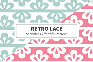 Retro Lace Seamless Tileable Pattern