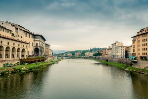 Florence view to the river arno