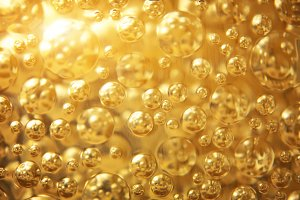 Gold background bubble texture