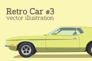 Vector Retro Car #3