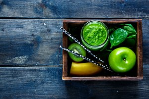 Green fresh smoothie
