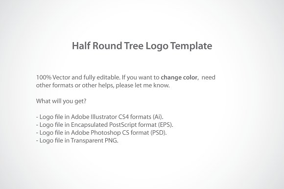 half round tree logo template logo templates creative market