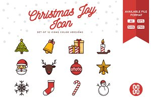 Christmas Joy Icons Set