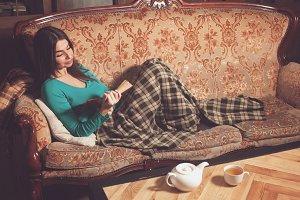 the comfortable sofa