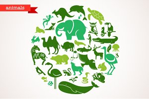 Animals - set of 40 icons