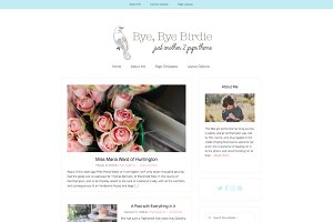 """Birdie"" Minimal Wordpress Theme"