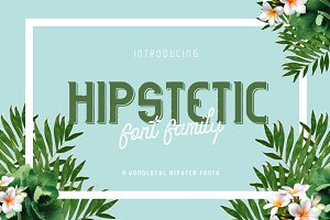 Hipstetic font family (Intro sale!)