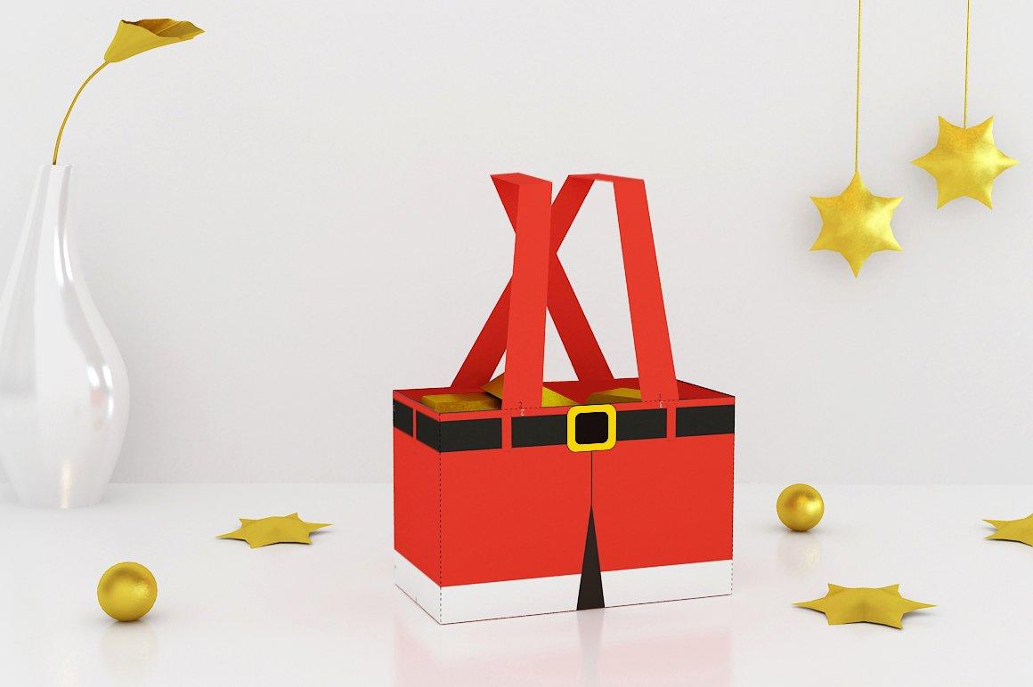 Diy Santa Pants Favor 3d Papercraft Creative Templates Creative Market