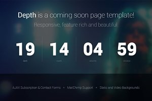 Depth — Coming Soon Page Template