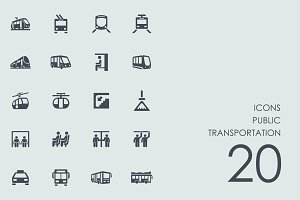 Public transportation icons
