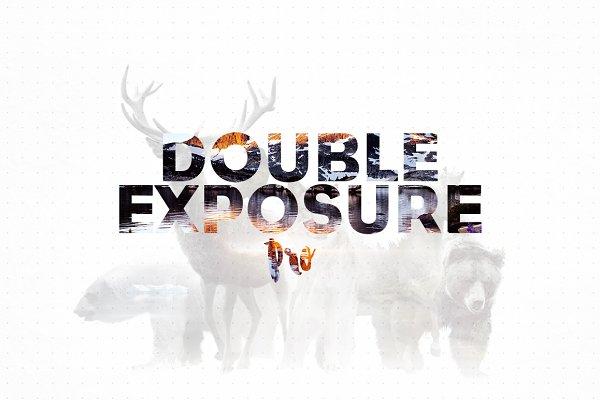 Double Exposure Photoshop Action Pr…