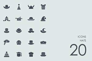 Hats icons