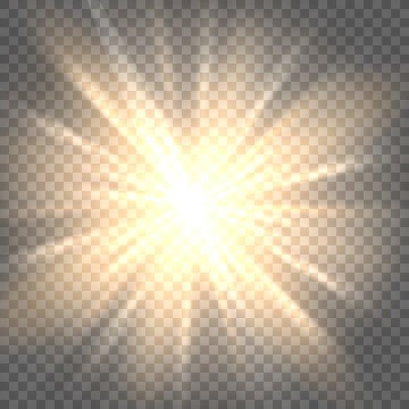 Sun Rays On Transparent Background Graphics Creative Market