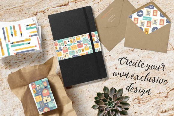 Postal set (eps, ai, png, jpg) in Illustrations - product preview 3