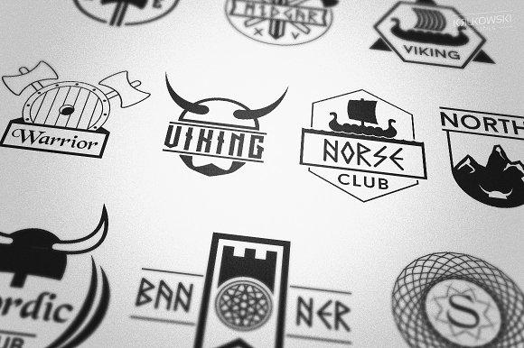 Norse Viking Badges Logos ~ Logo Templates ~ Creative Market