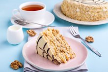 Cake with various nuts