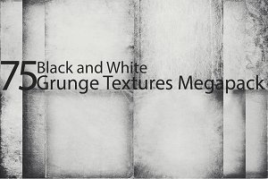 75 BW Grunge Textures Pack