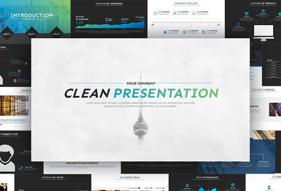 clean powerpoint template presentations