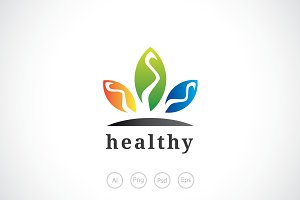 Health Stone Logo Template